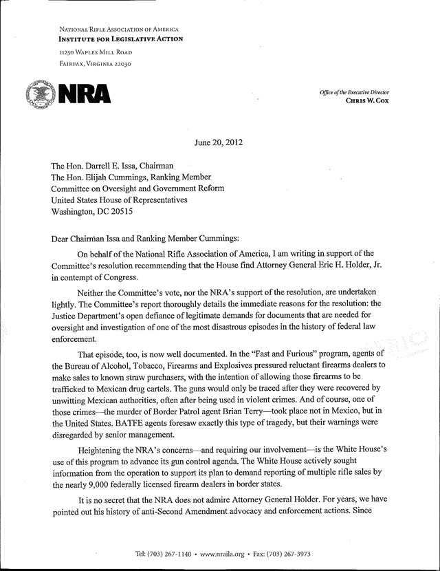 June 2012 a little left of center nra letter to issa 1 thecheapjerseys Choice Image