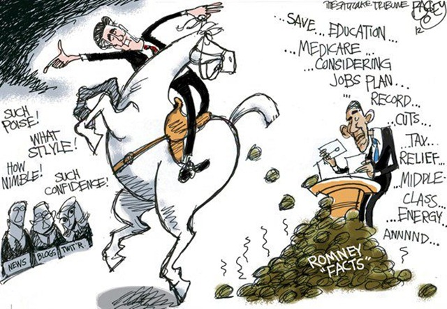 romney debate tactic by bagley @ salt lake tribune