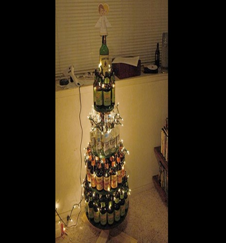 Possibly the best use of a beer bottle ever.