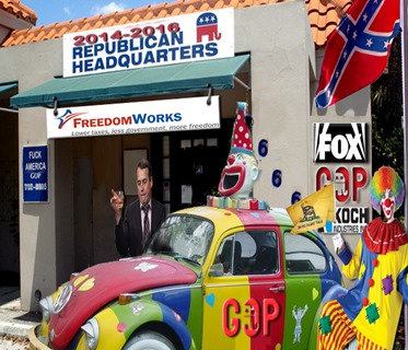 boehner and his gop clown car by hip is everything