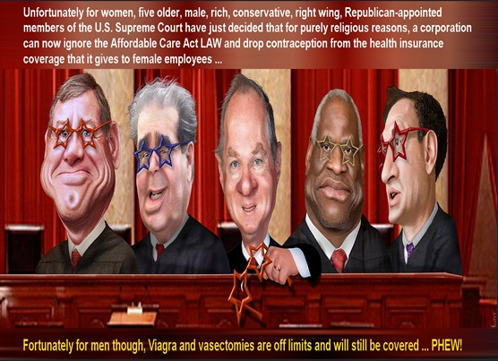 scotus the roberts 5 by donkey hotey