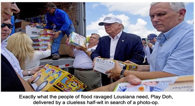 Trump PlayDoh delivery to flood victims