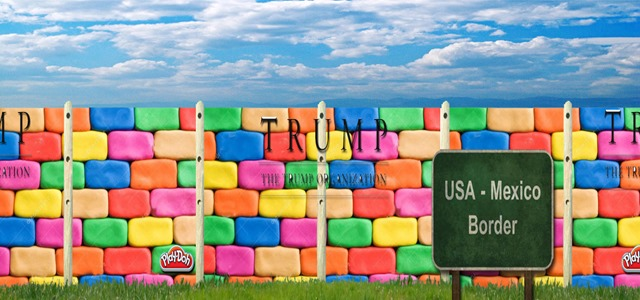 trump playdoh wall by hip is everything