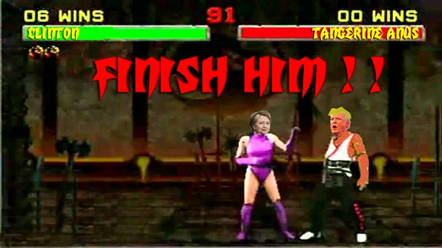 CLINTON TRUMP MORTAL KOMBAT by hip is everything