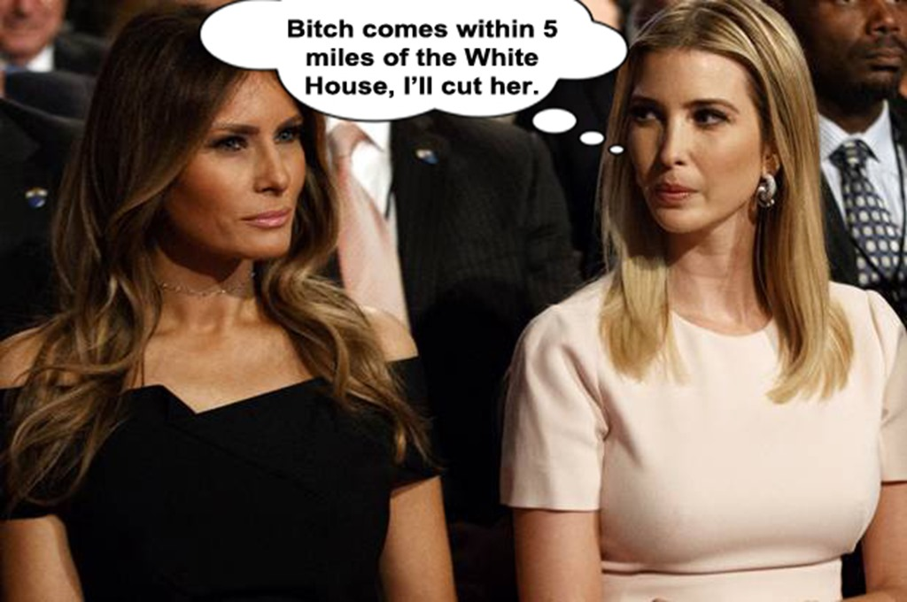Ivanka Melania by hip is everything