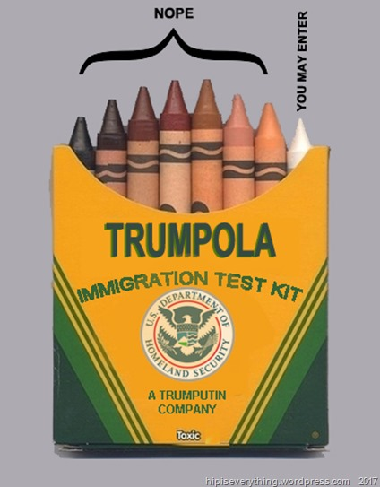 trump immigration test kit by hip is everythinng