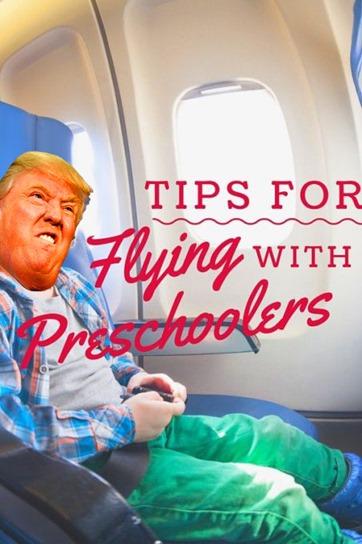flying trump