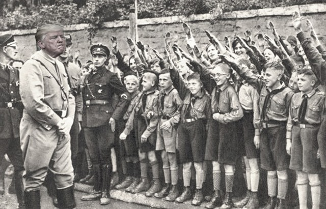 trump greets scouts