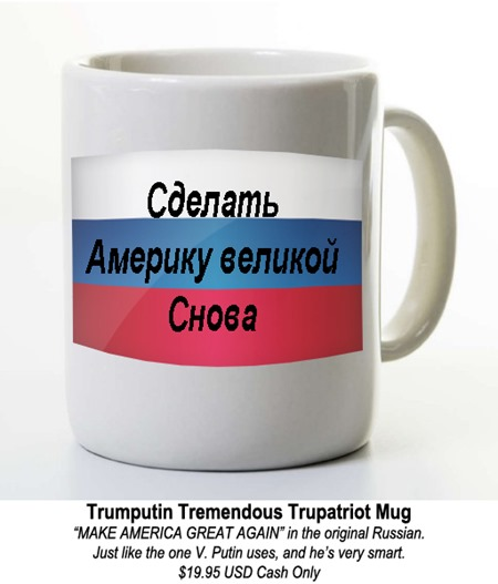 TRUMPUTIN MAGA mug by hip is everything
