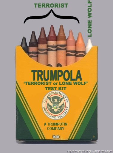 trump TERRORIST OR LONE WOLF test kit by hip is everythinng