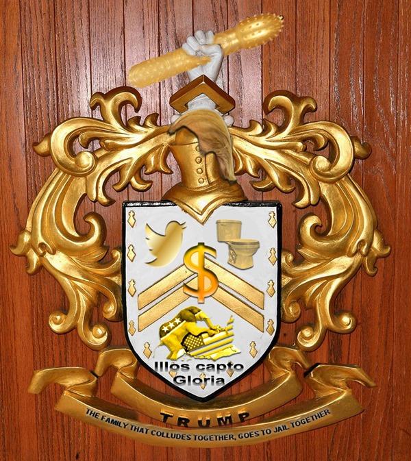 Trump coat of armsLatin added