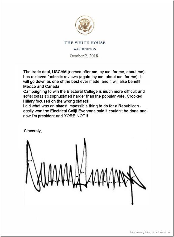 Trump's fake USCAM