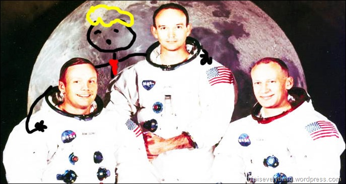 me neil buzz and that other guy one small step for the donald