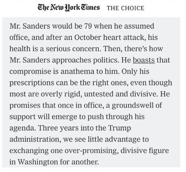 NO Bernie