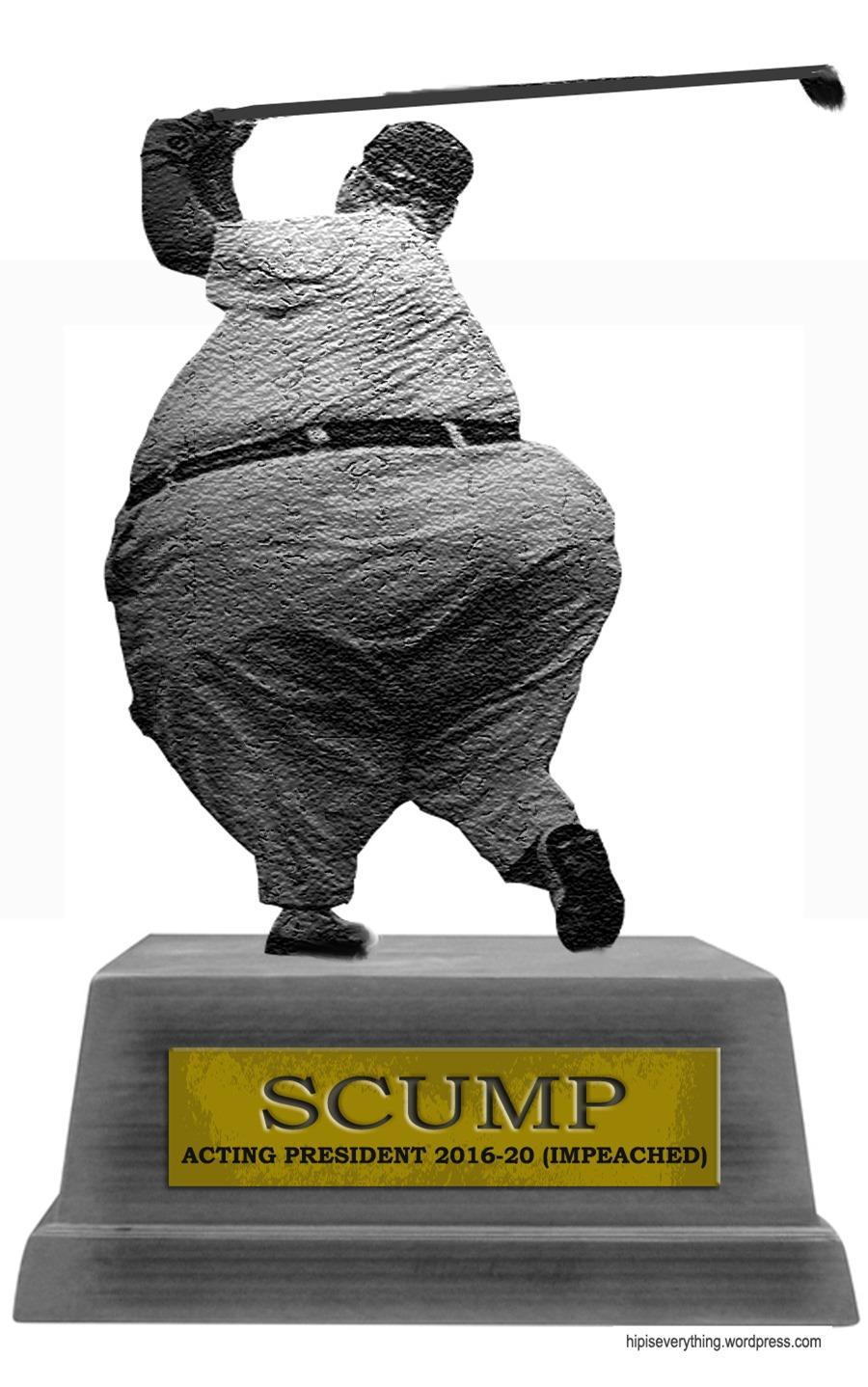 scump statue 2 golf